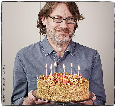 A rugged Nigel Slater with cake