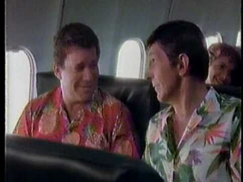 William Shatner & Leonard Nimoy for Western Airlines 1985 - YouTube