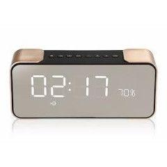 Bluetooth Speaker PTH-305 & Alarm Clock - Gold