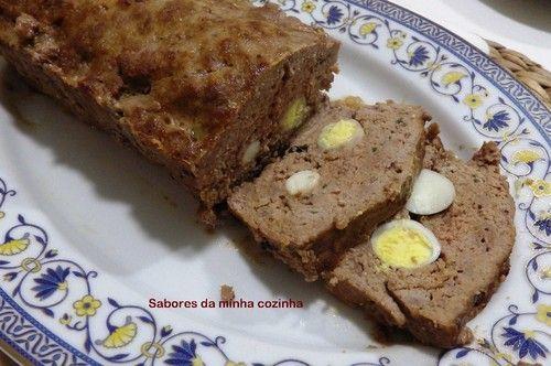 Rolo de carne com ovos de codorniz - Sabores da minha cozinha