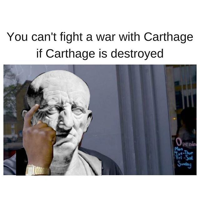 Sage advice from Cato the Elder @roughromanmemes  #ancientrome #ancienthistory #sculpture #ancient #carthage #memes #rome #cato #historynerd