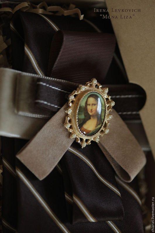 """Галстуки, бабочки ручной работы. Ярмарка Мастеров - ручная работа. Купить Женский галстук, блистрон ручной работы """"Mona Liza"""". Handmade."""