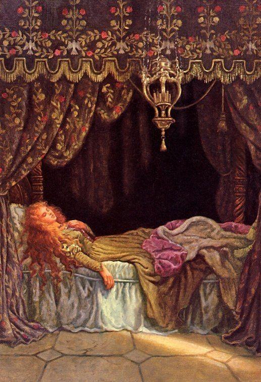 Веснушками, спящая красавица картинки к сказке