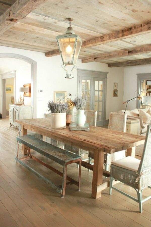 Ethereal European Country Design Style Cottage With Rustic Wood Ceilings Hello Lovely Country Dining Rooms Country Interior Design Farmhouse Interior
