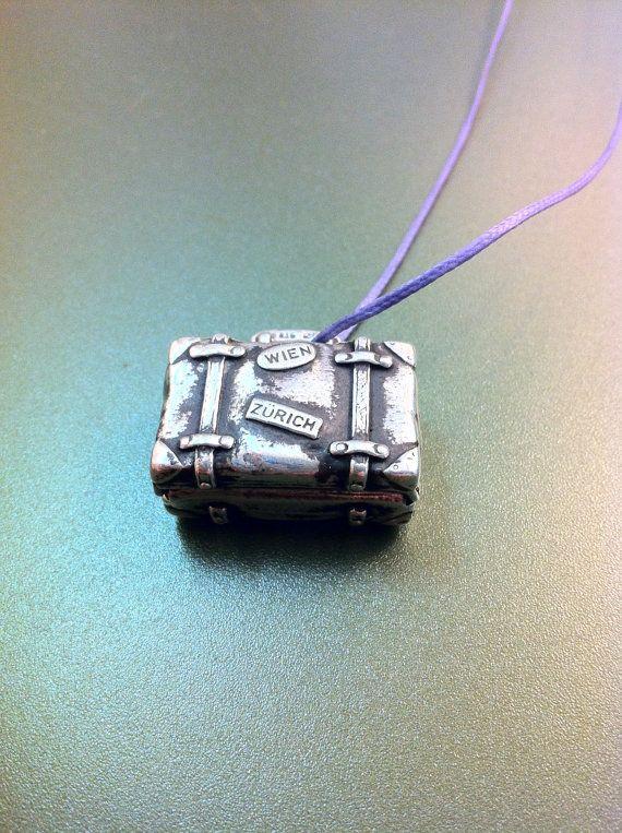 Funny original suitcase pendant sterling by ArchipelagosBreeze, €38.00