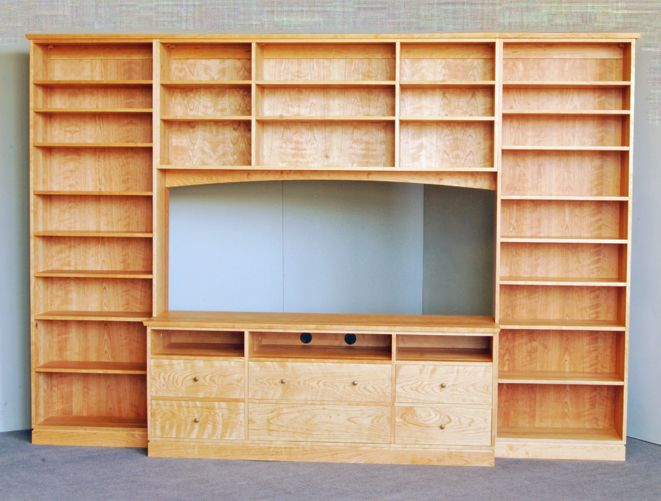 Wall Storage Cabinet in Bedroom | Brooklyn Made Harrison Wall Unit for Media Storage
