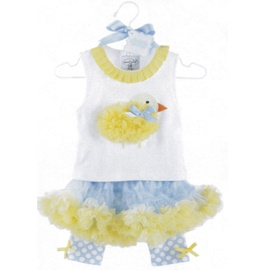 They are accented with a pretty scatter print of medium white polka dots and tiny yellow bows of smooth narrow ribbon at the outside of each knee.