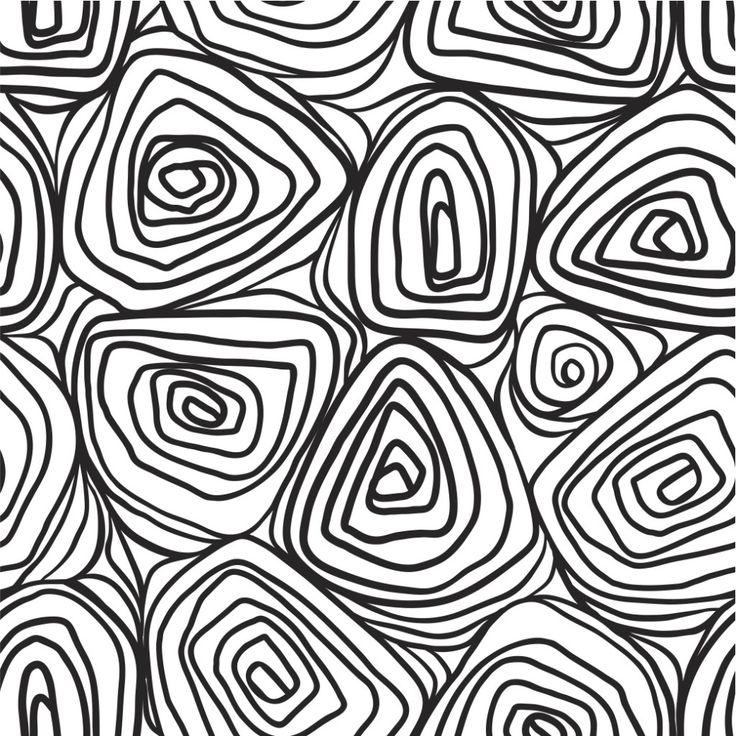 organic tree trunks black and white #wallpaper inspiration #circles #prints #graphics #textiles #interiordesign