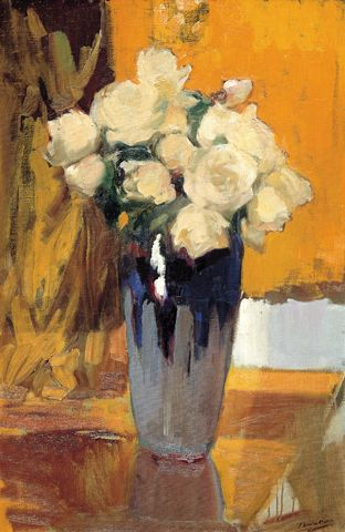 Sorolla, Rose bianche del giardino di casa Sorolla, 1920