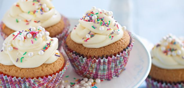 These cupcakes are quick to make with minimal washing up and will keep the kids busy as they decorate them to within an inch of their creamy frosting!