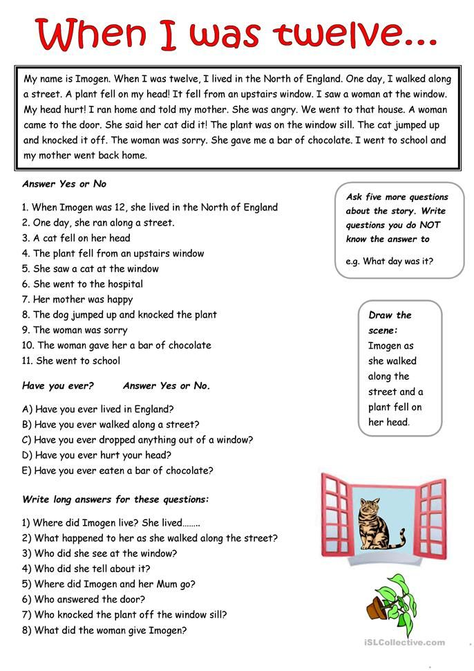 A Simple Passage In The Past Simple Tense Simple Past Tense Tenses Verbs For Kids