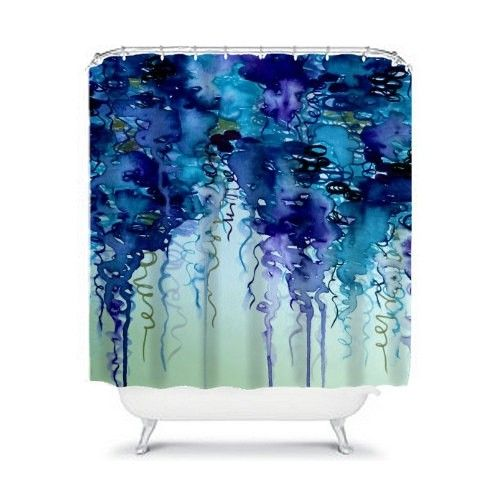 Navy Blue Shower Curtains - Foter