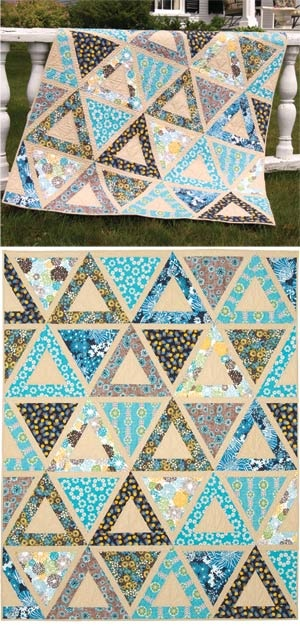 For our guests...I love how this quilt shows off the patterns chosen