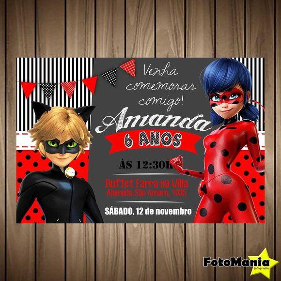 Convite digital Ladybug {miraculous}