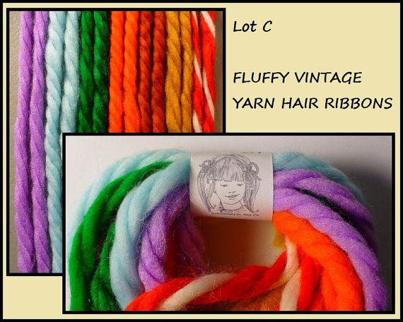 lot seven pair fluffy yarn hair
