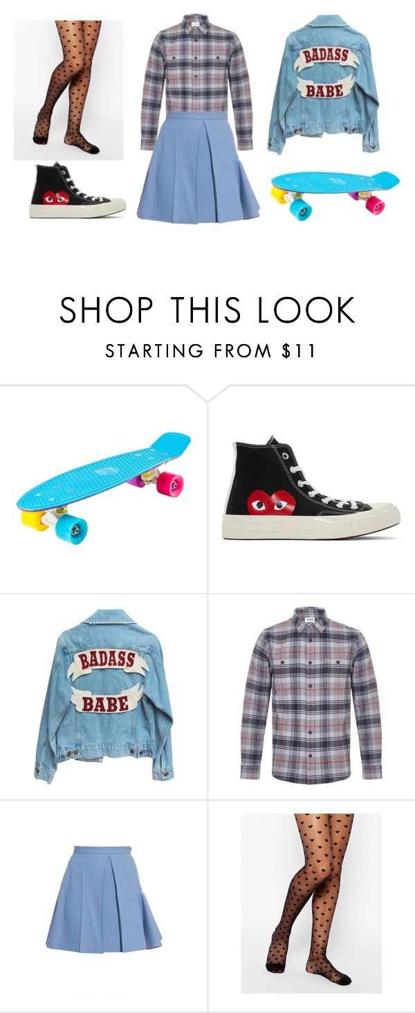 """#untitled9"" by yuna92 on Polyvore featuring Play Comme des Garçons, Edwin, Julien David and Gipsy"