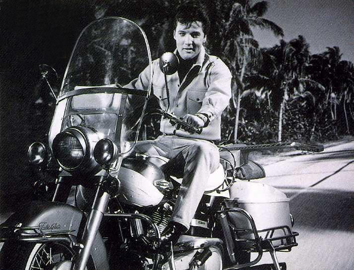 "Elvis in ""Clambake"", his 25th film, shot in 1967 - Harley Davidson/cq"
