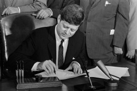 49 years after Kennedy signed the Equal Pay Act, women still earn 77C to a man's dollar. WHY would I vote for a politician who voted down the Paycheck Fairness Act? Answer: I wouldn't! And if you happen to be a woman, you shouldn't either!!