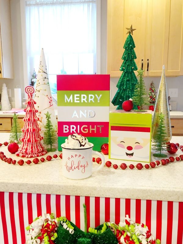 Decorating Your Kitchen Island For Christmas With Hobby Lobby Ellery Designs Country Cottage Decor Themes Coffee