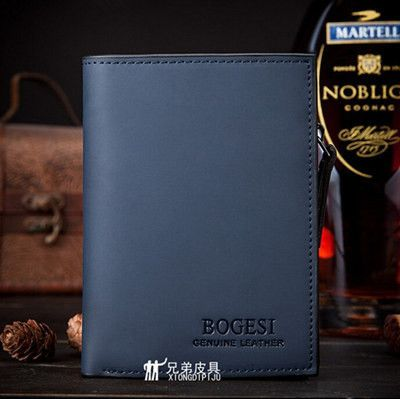 High quality Leather men's Wallets Wholesale purse leather SHORT leather wallets ,Best gift,