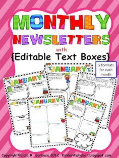 Best Classroom Newsletter Templates Images On