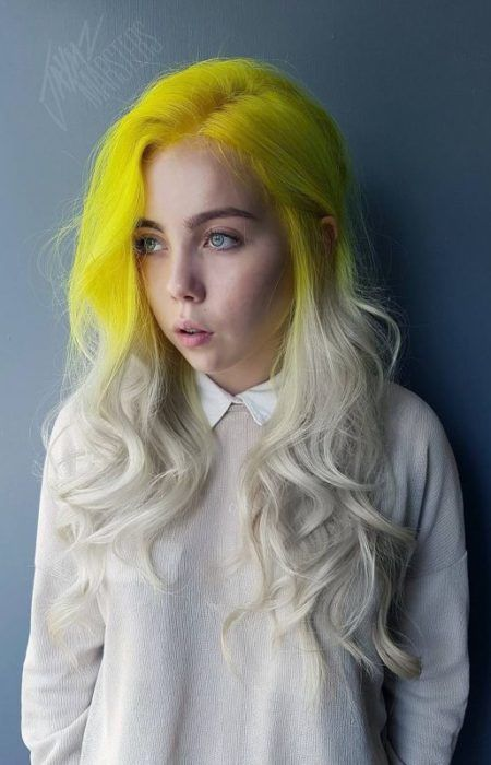 neon hair styles best 25 yellow hair ideas on yellow hair dye 7421