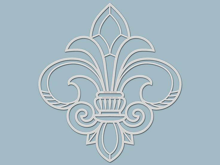 Schablonen - Schablone französische Lilie (Silhouette) - ein Designerstück von designs-for-you bei DaWanda