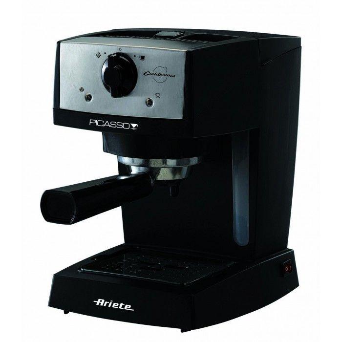 Macchina da caffè espresso Ariete Picasso Cialdissima Macchina da caffè espresso moderna e compatta per polvere o comode cialde ese. Ideale per coloro che amano il caffè dall'aroma intenso e cappuccini cremosi come al bar. Le sue linee moderne la rendono perfetta per qualsiasi cucina, le sue dimensioni ridotte la rendono un'alleata ideale per spazi ridotti.  Potenza: 850W Pompa: 15 bar Caldaia di alluminio Funzione Standby Maxi Cappuccino Porta filtro per caffè in polvere e cialde ESE…
