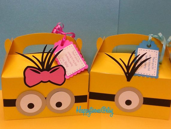 Hey, I found this really awesome Etsy listing at https://www.etsy.com/listing/239069877/minion-favor-boxes-minion-birthday-party