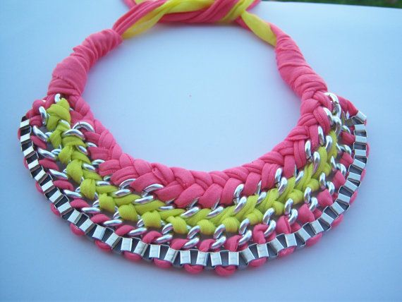 necklace of braided chains by hara75 on Etsy, $18.00