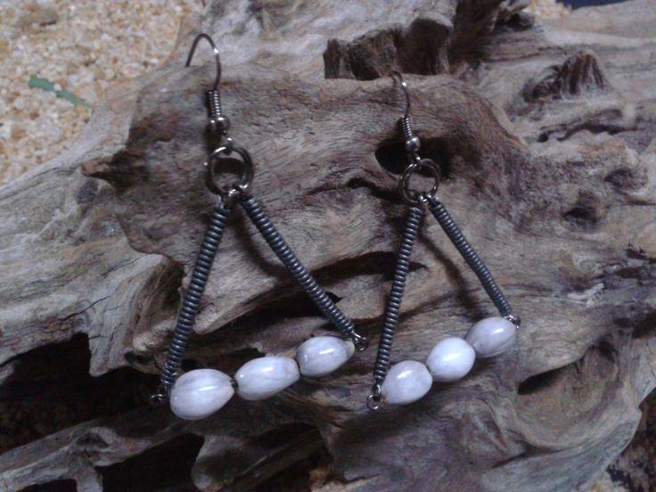 Job's Tears Triangle earrings