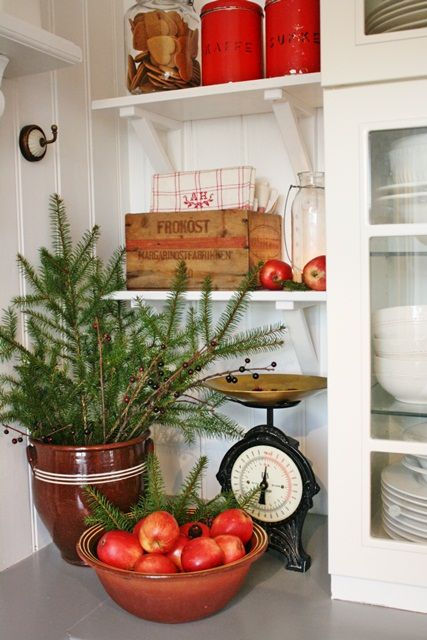 Pantry decked out for Christmas