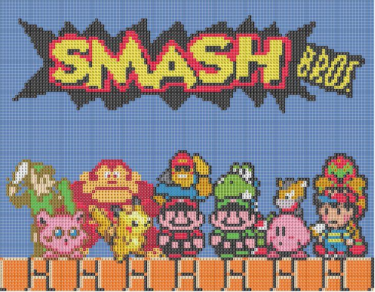Smash Bros. - Link, Donkey Kong, Yoshi, Jigglypuff, Pikachu, Mario, Luigi, Kirby, etc.