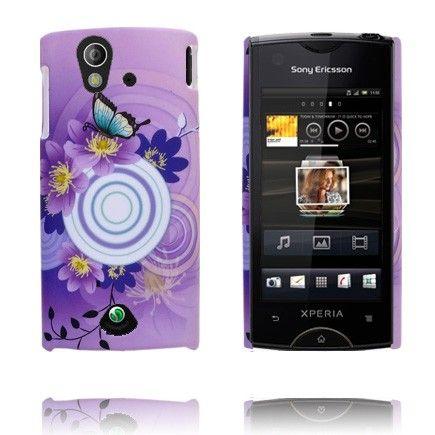 Valentine (Violetti Taivas & Ympyrä) Sony Ericsson Xperia Ray Suojakuori