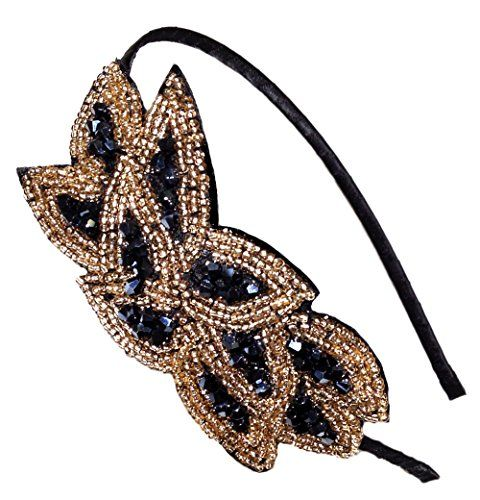 Handmade Beaded Leaf Bunch Fashion Headband Hair Accessory (Black) CB Accessories http://www.amazon.com/Handmade-Beaded-Fashion-Headband-Accessory/dp/B009QBS01U/