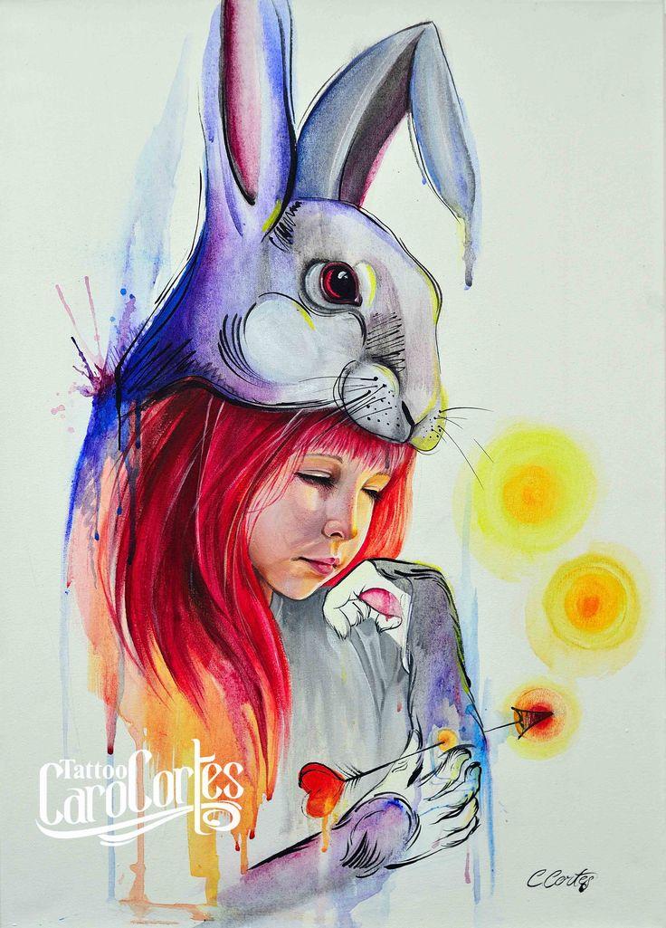 Caro cortes Colombian tattoo artist. http://carocortes.tumblr.com/ http://www.carocortes.com/ #carocortes #innocense #inocensia #female #tattoo #artist