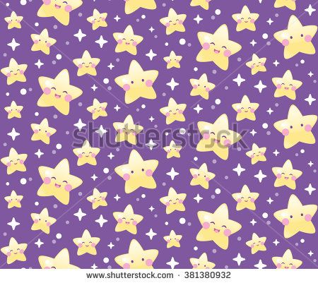 Seamless cute star pattern. Wrapping. Background. Wallpaper. - stock vector