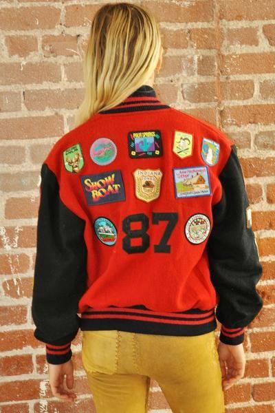 Vintage Patched Letterman's Jacket (25 original patches)