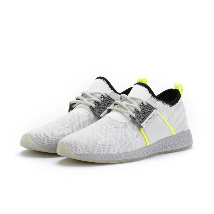 KATSURO WHITE YELLOW SHOES Night Runner!! Glow in the dark sole, Reflective zig-zag design, I feel like Pablo, free coupon code, free shipping over...