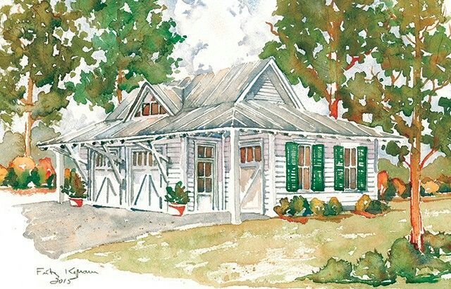 Love this detached garage plan with a guest suite for mom for Southern living detached garage plans