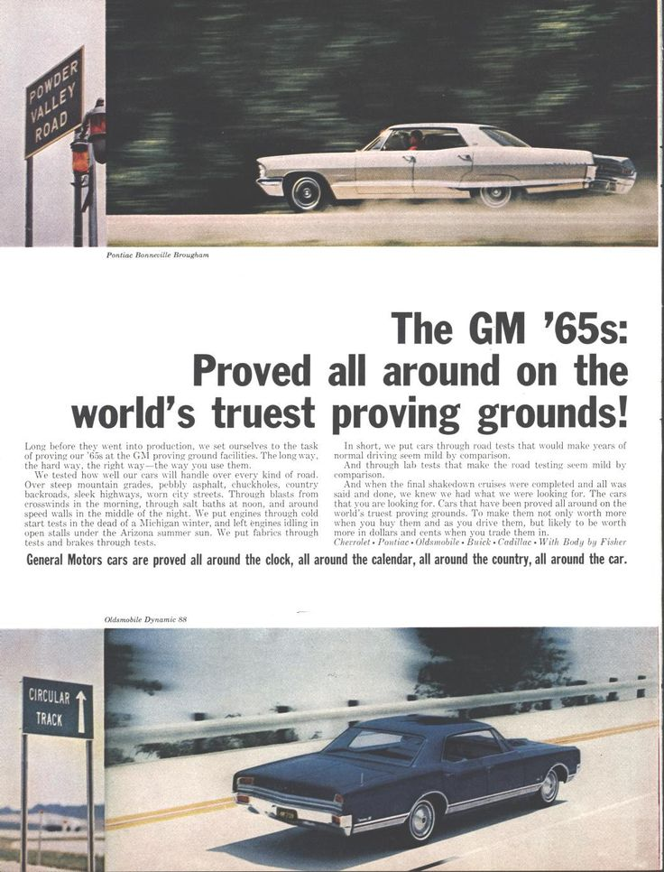 65 General Motors Automobiles (Double Page) LIFE November 6 1964
