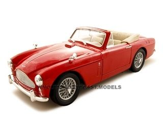 1958 Aston Martin DB-2 Mark 3 Diecast Car 1/18 Red Die Cast Car Model by Yat Ming