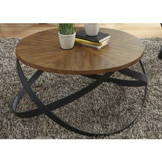 Lancaster Mixed Media Sunburst Cocktail Table | Overstock.com Shopping - The Best Deals on Coffee, Sofa & End Tables