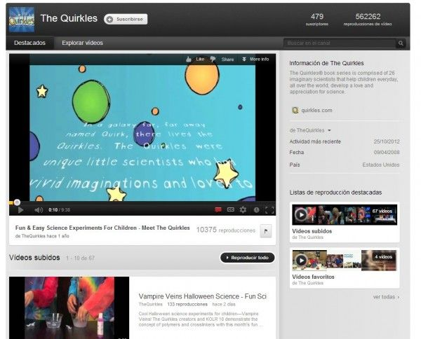 Els millors canals de youtube per fer experiments. Recomanats per EN EL NÚVOL.