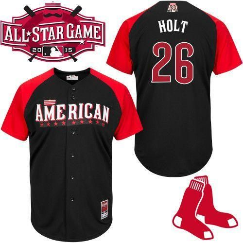 Brock Holt Black 2015 All-Star American League Stitched Baseball Jersey