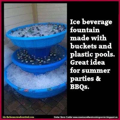 Dollar Store Crafter: Backyard Drink Station ~ Fourth Of July Fun