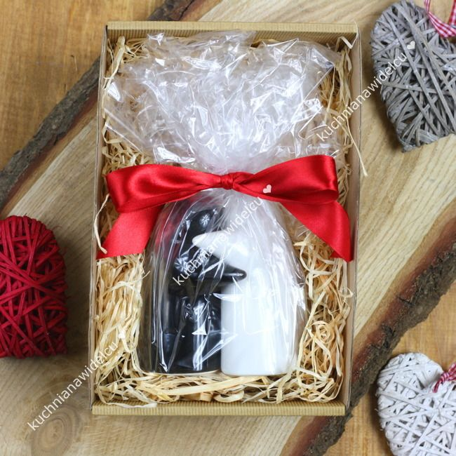 ❤ Upominek na walentynki #1 - zakochane duszki w pudełku prezentowym