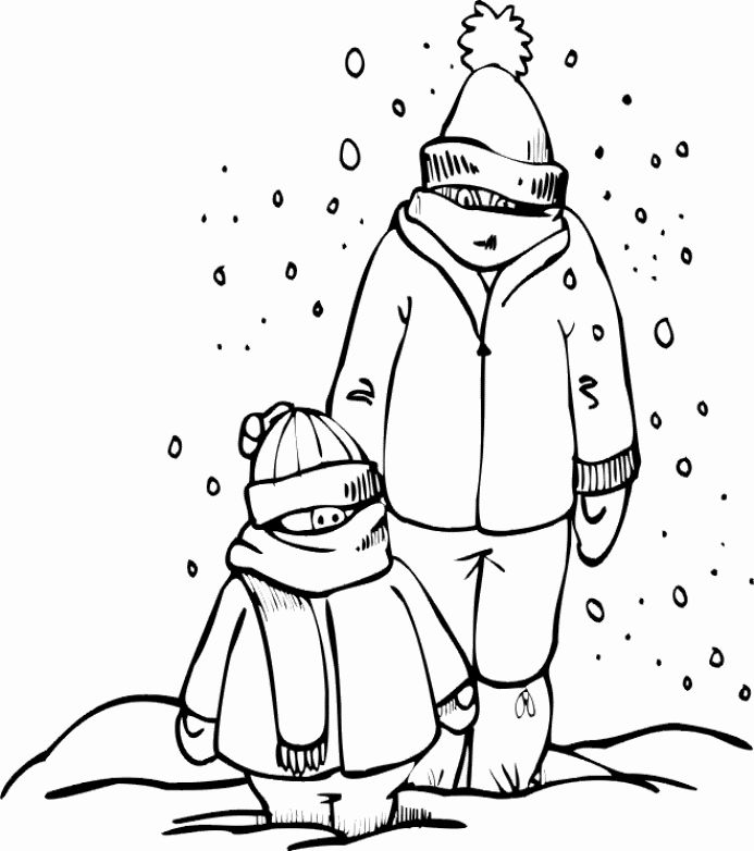 Winter Clothes Coloring Pages Beautiful Winter Clothing Coloring