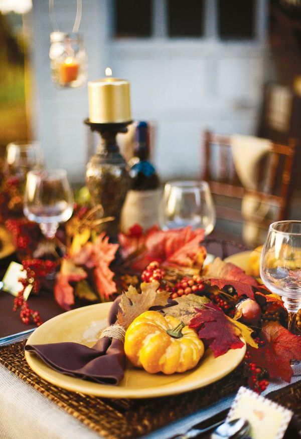 Best 25 outdoor thanksgiving ideas on pinterest table for Turkey dinner table settings