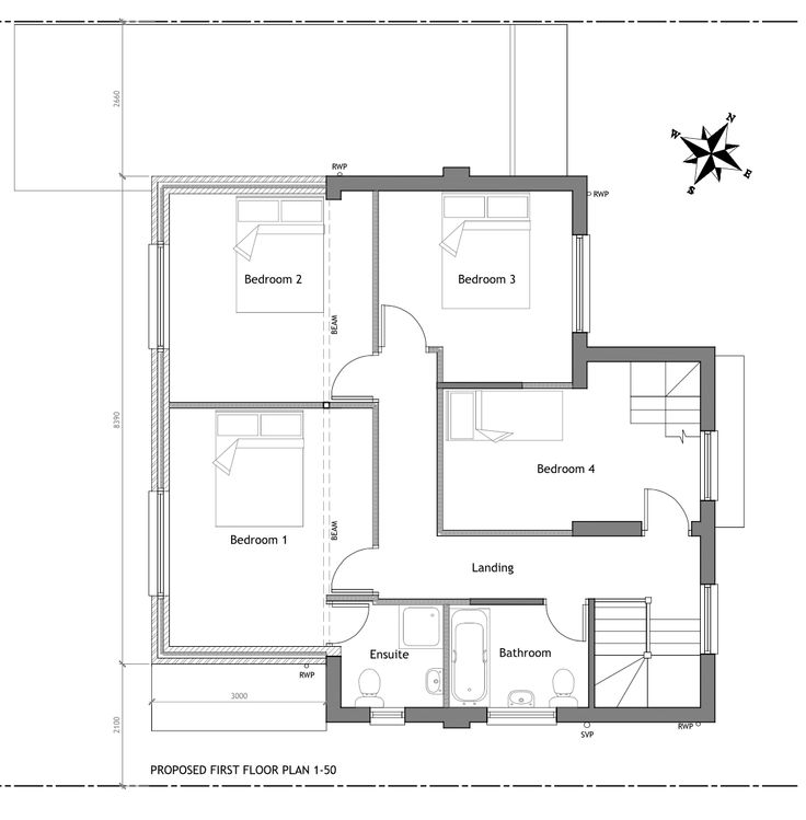 SURREY-02 Planning permission granted for a two storey rear extension to create a large kitchen dining area and a fourth bedroom with ensuite.